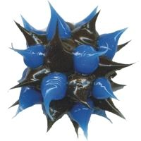 Wholesale spiky Blue and Black rubber beads