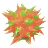 Wholesale spiky Orange and Green rubber beads