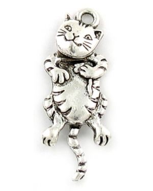 Wholesale Cat Charms With Movable Head and Tail.