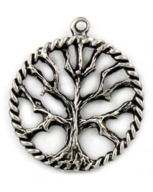 Wholesale Tree Of Life With Rope Border Design Charms