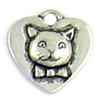 Wholesale Heart With Cat Charms.