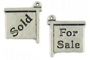 For Sale / Sold Charm (±13.5x15x1.5mm; -1.5mm-;2D)