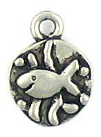 Fish Charm (±10x14x2mm; -2mm-;1D)
