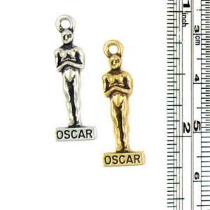 Oscar Charm (±4mm L x 26mm W x 8mm D;  Hole -2mm-;  3D)