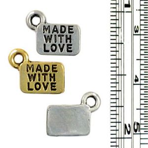 Wholesale Made with Love charms