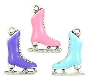 Wholesale Enameled Ice Skate Charms