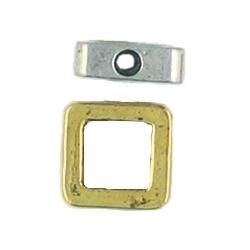 6mm Square Bead Frame (9x9x3mm; -2-; 3D)
