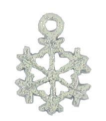 Wholesale White Glitter Enamel Snowflake Charms