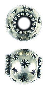 Star Bead Big Hole (±12x12x12mm; -4.8mm-;3D)