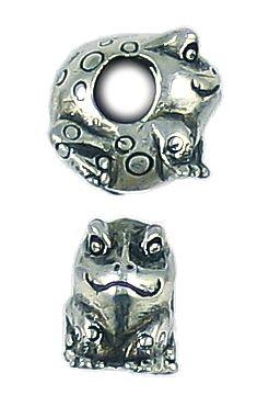 Frog Bead Big Hole (±8x12x13mm; -4.8mm-;3D)
