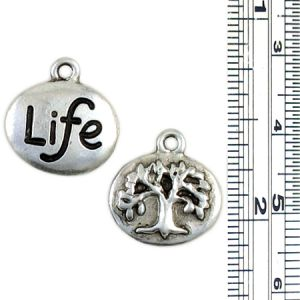 Wholesale Double sided Life, Tree of Life Charm