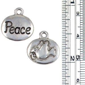 Peace and Dove Charm