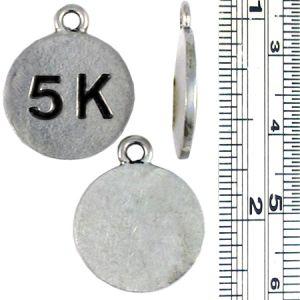 Wholesale 5K Marathon Disc Charms.