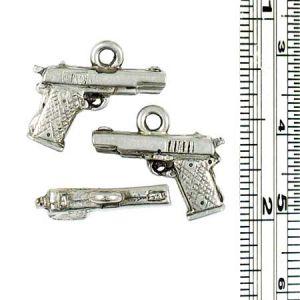 Wholesale 3-D Pistol Charms