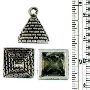 Wholesale 3 Dimensional Pyramid Pendant Charms.