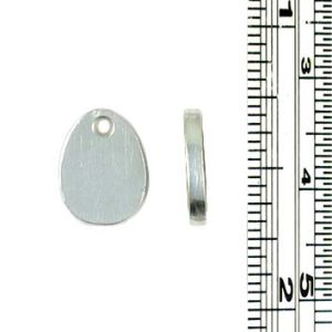 Small oval stamping blank tag charms