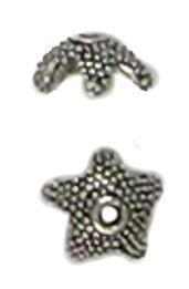 Granulated 5 Point Bead Cap (±9x9x4mm; -1mm-;1D)