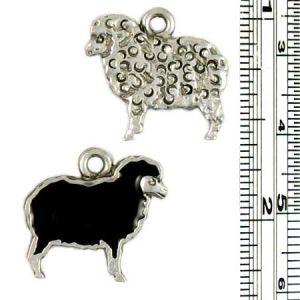 Wholesale black sheep charms