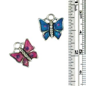 Wholesale Enameled Butterfly Charms