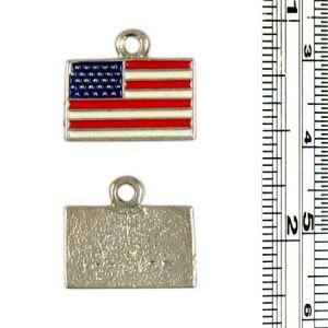 Color Enameled USA Flag charms