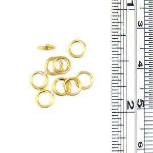 JUMP4G - Jumpring in gold finish. 3mm Inner and 4.6mm outer diameter. 21 Guage. 200 Pieces / bag