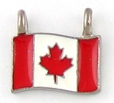 Wholesale Canadian Flag Charms